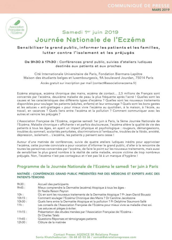journée national de l'eczéma