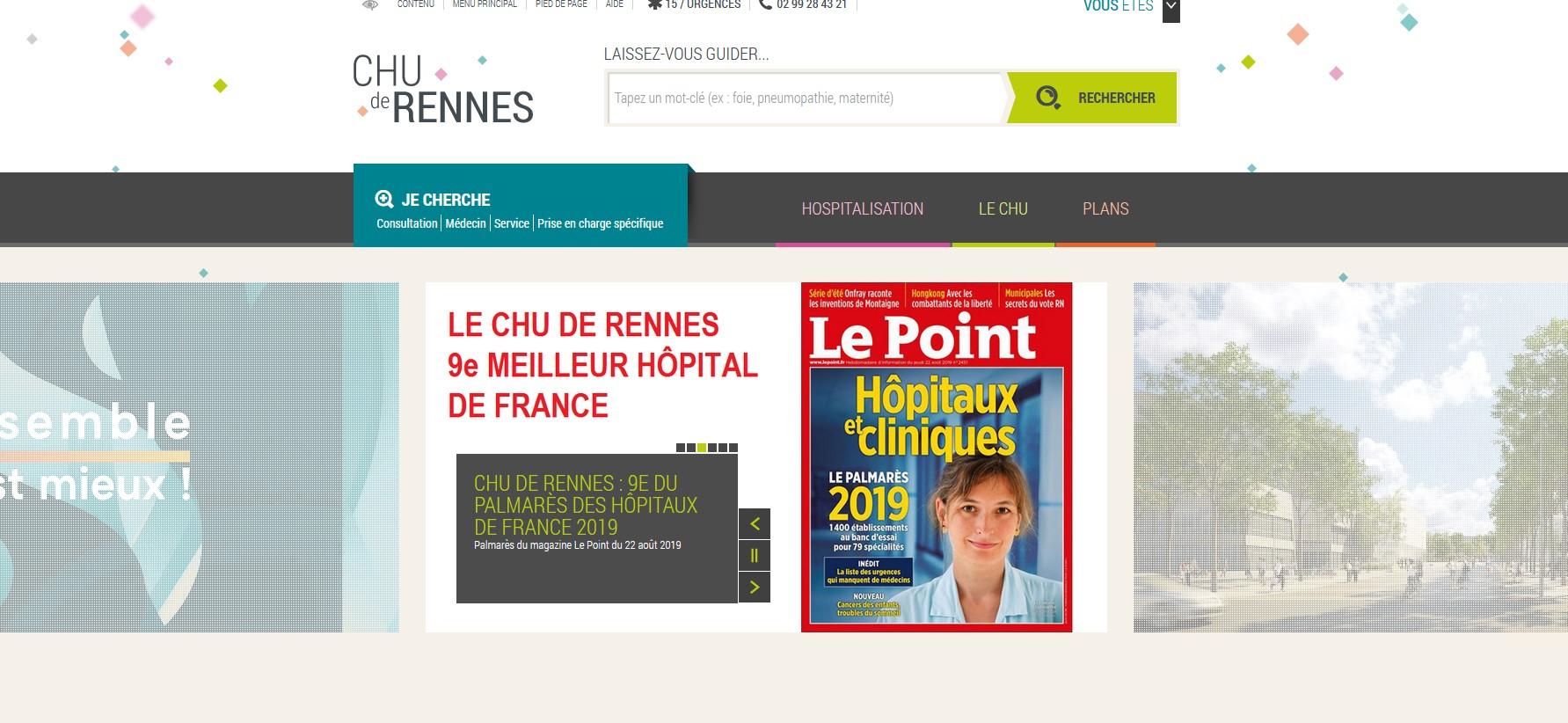 site internet du CHU de Rennes