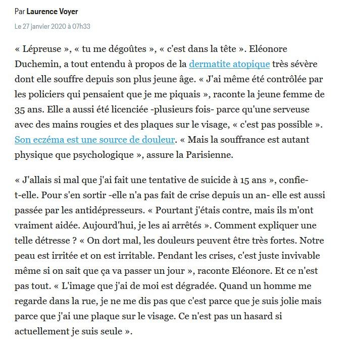 témoignage d'Elonore Duchemin