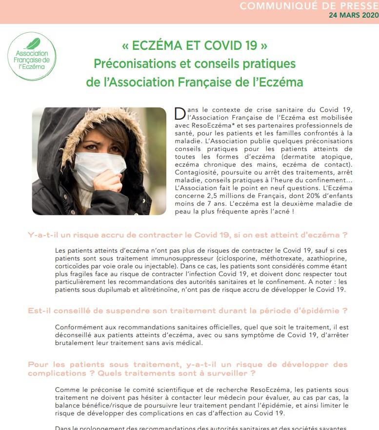 eczema et covid